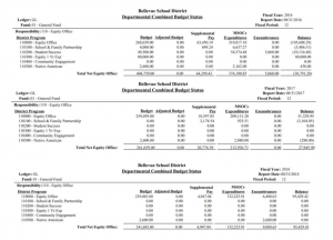 BSD Equity Department Budget