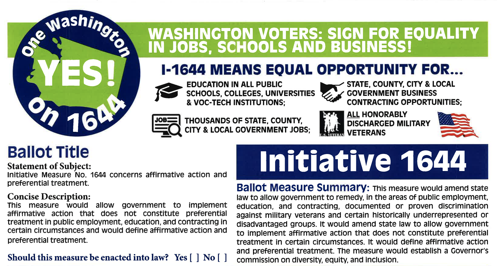Initiative 1644 petition form
